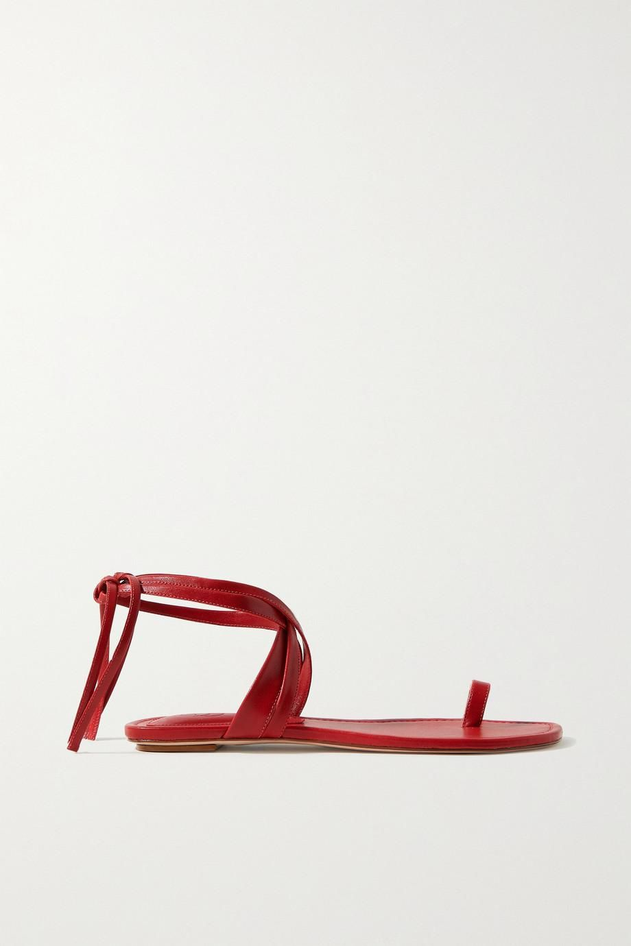 porte and paire leather sandals