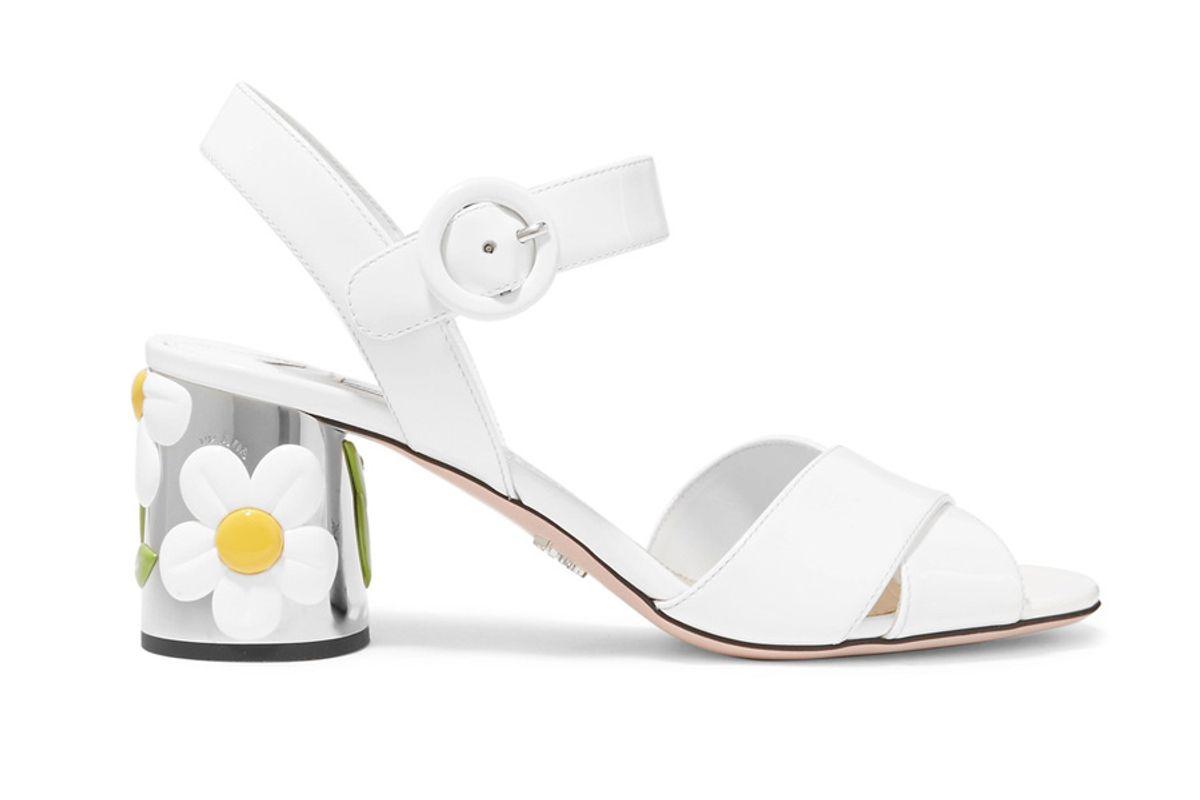Embellished Patent-Leather Sandals