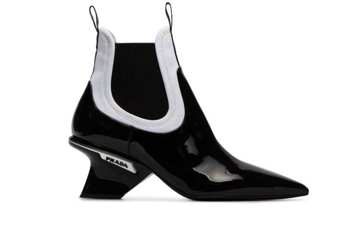 prada panel detail ankle boots