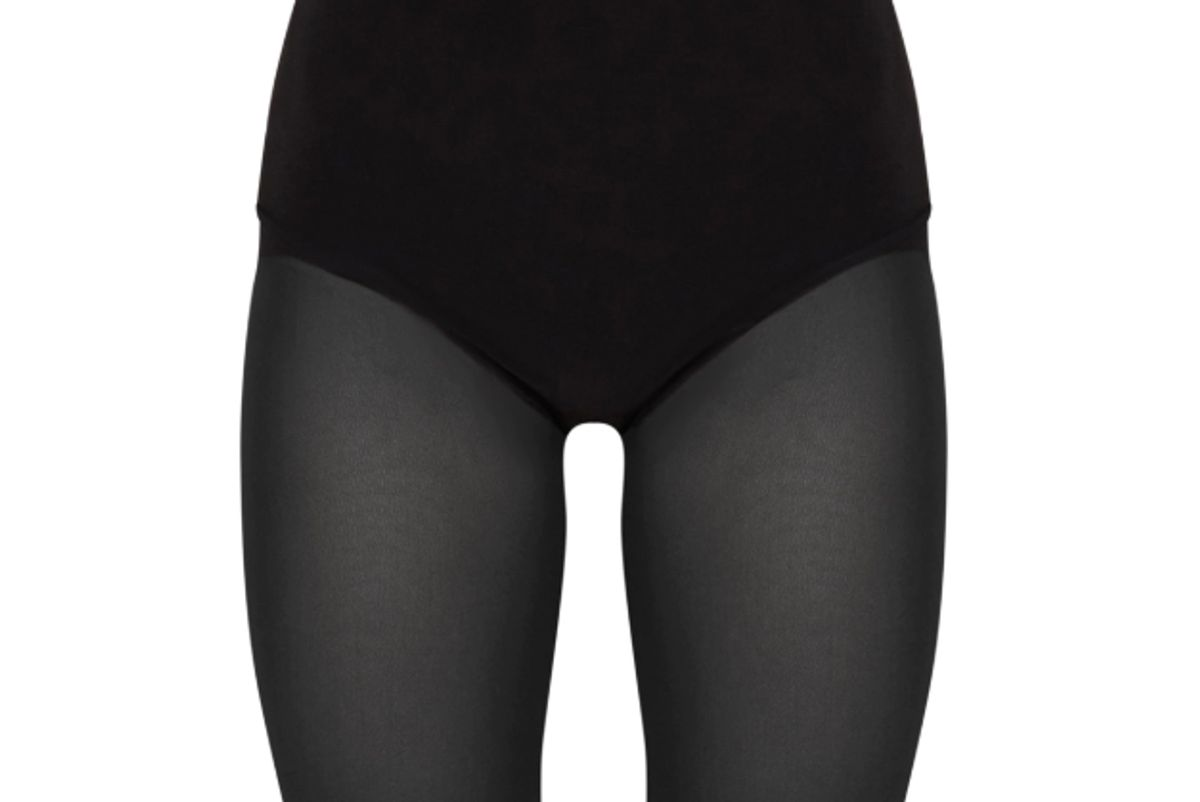 pretty little thing black mesh leg shorts