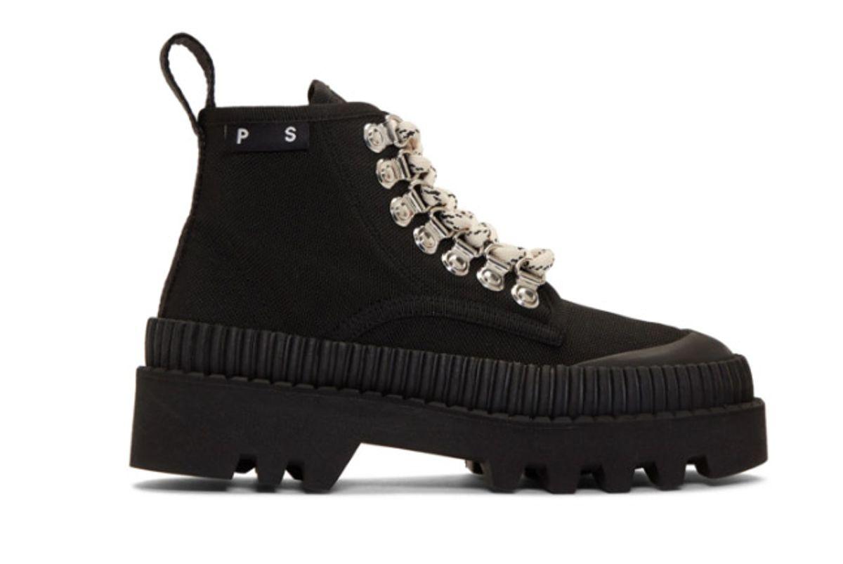 proenza schouler black lug sole boot