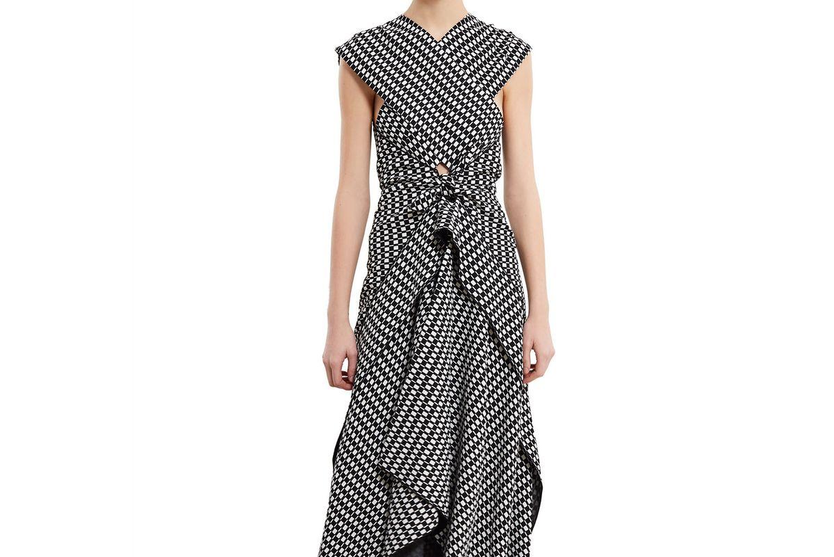 Printed Silk Crepe Maxi Dress