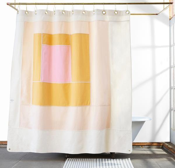 quiet town The marfa cotton canvas shower curtain