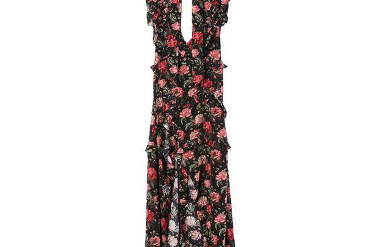 r 13 ruffle slit dress