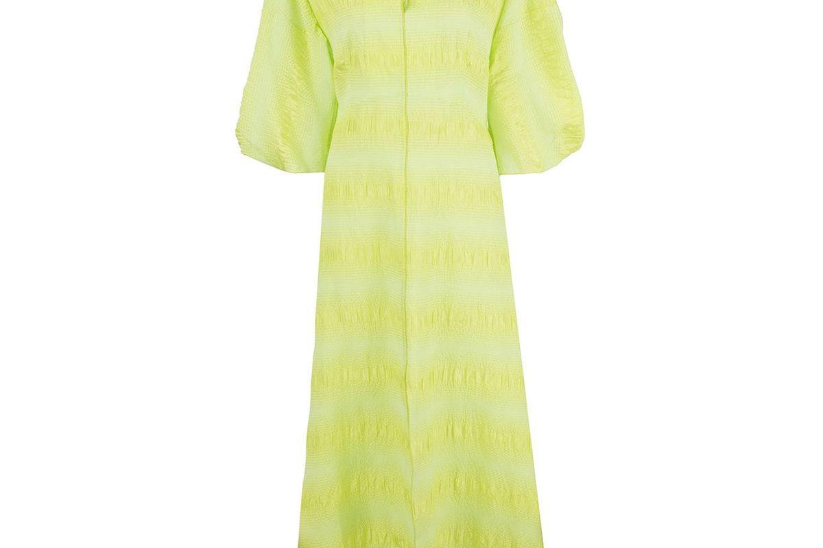 rachel comey amplus dress in neon yellow