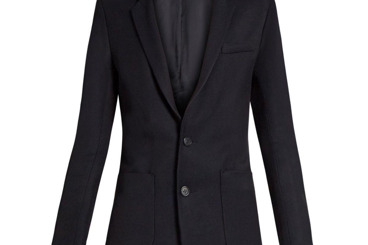 raey long line twill blazer