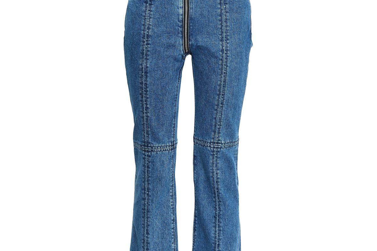rag and bone cropped high rise boot cut jeans