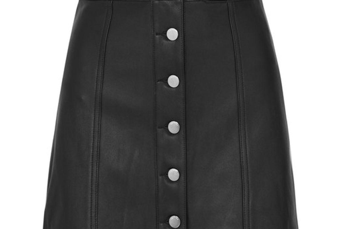 rag and bone rosie leather mini skirt