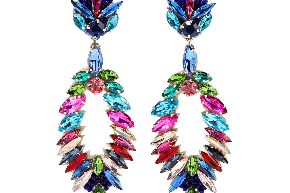 ranjana khan crystal clip earrings