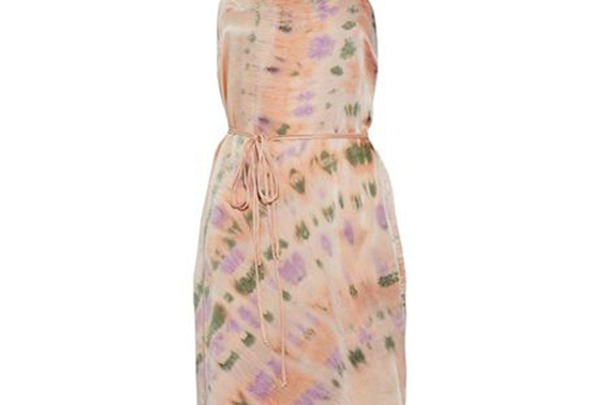 tie dyed crinkled silk dress
