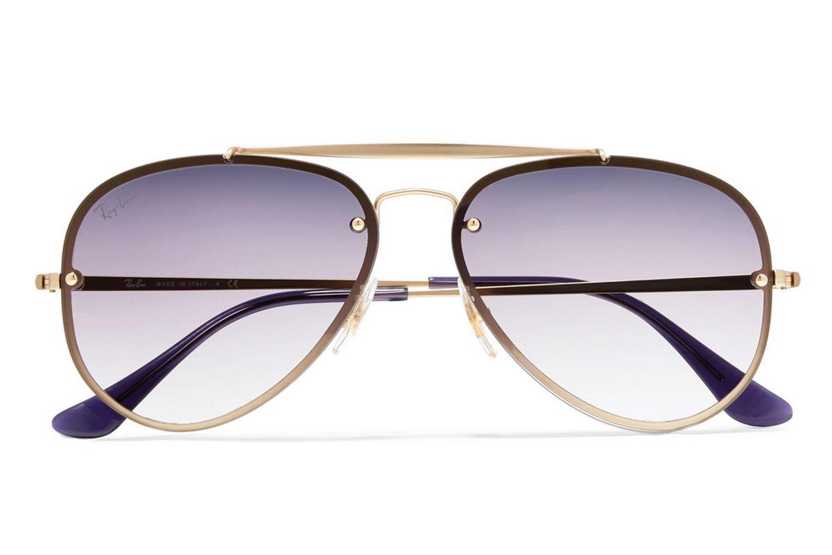 ray ban aviator gold tone sunglasses