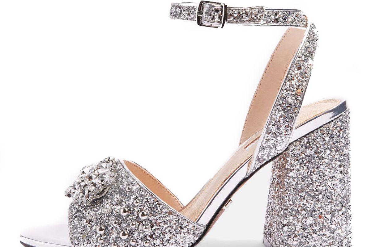 Razzle Glitter Block Heel Sandals