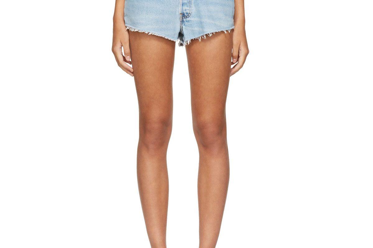 Blue Levi's Edition Classic Denim Shorts