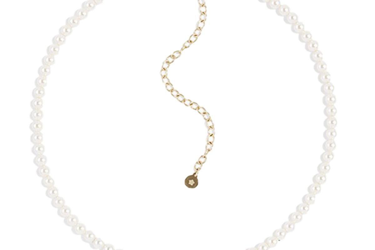 ready made pearlette star choker gold