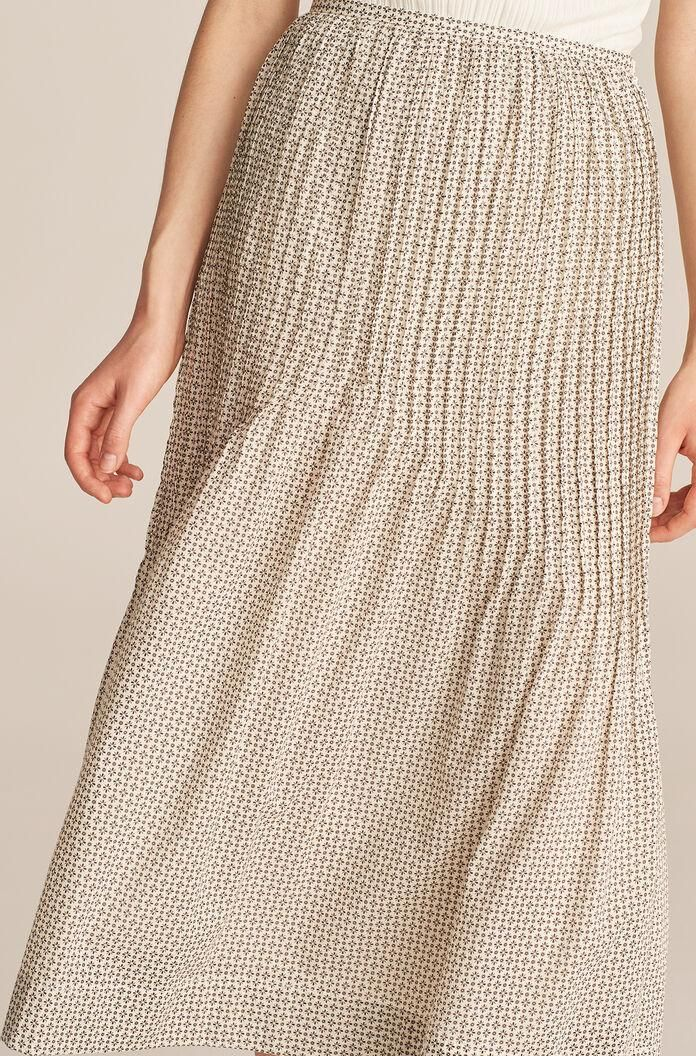 rebecca taylor printed cotton voile skirt
