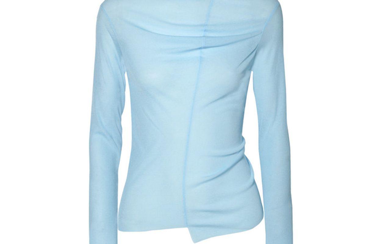 rejina pyo alix draped cutout jersey top