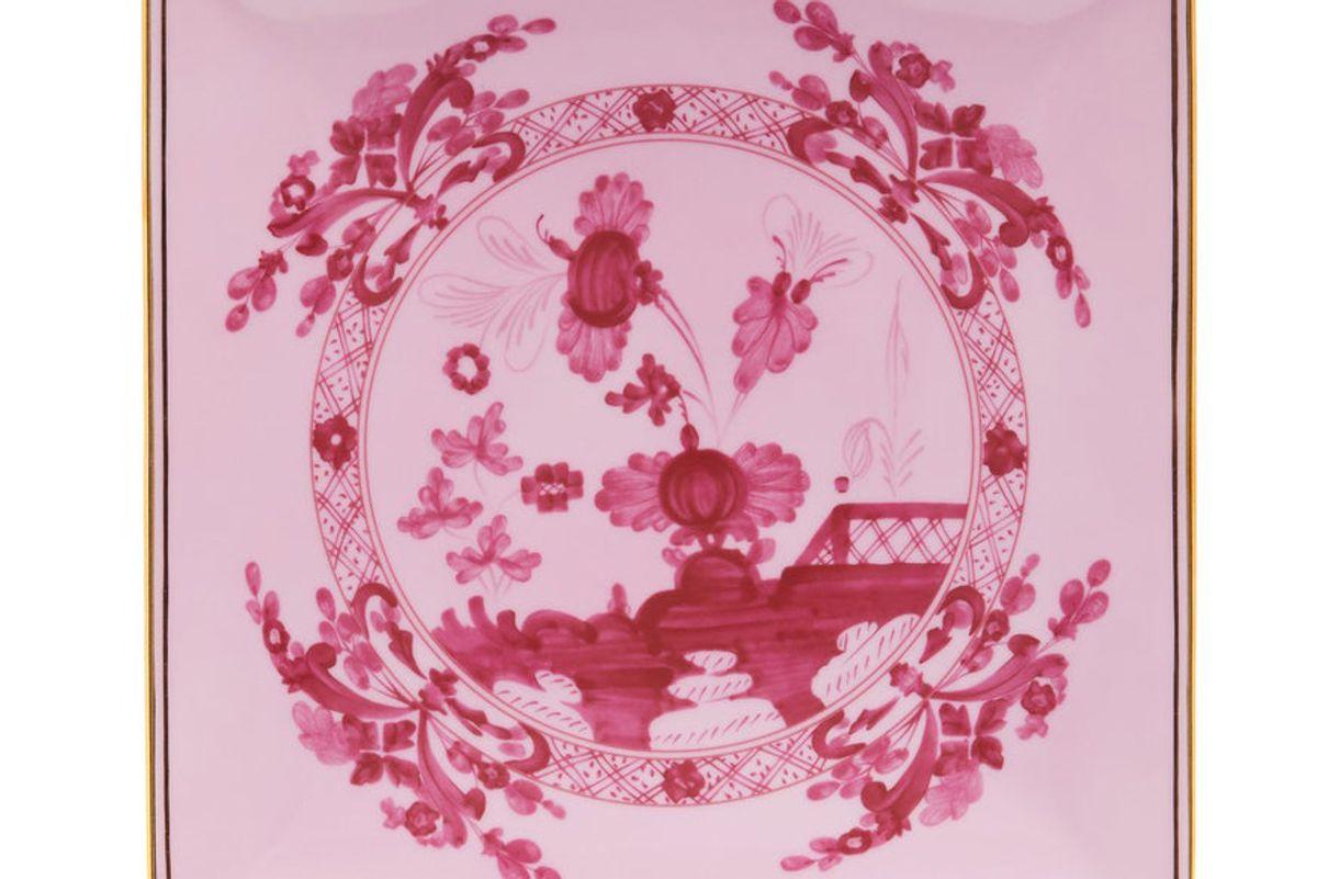 richard ginori oriente italiano square porcelain tray