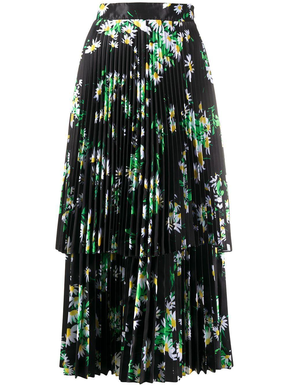 richard quinn daisy print midi dress