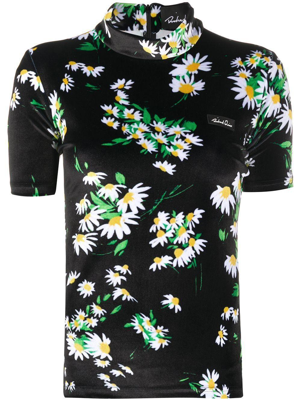 richard quinn daisy print t shirt