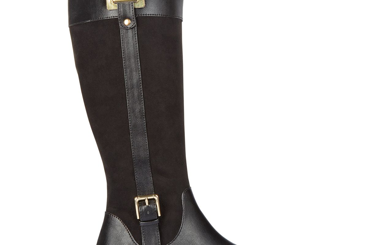Deliee Wide-Calf Riding Boots