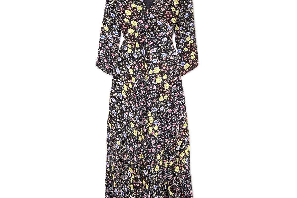 rixo london katie floral print crepe midi dress