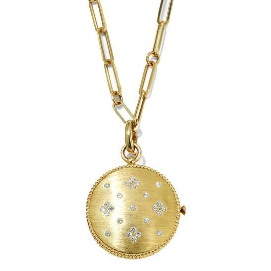 roberto coin venetian princess 18k diamond locket necklace