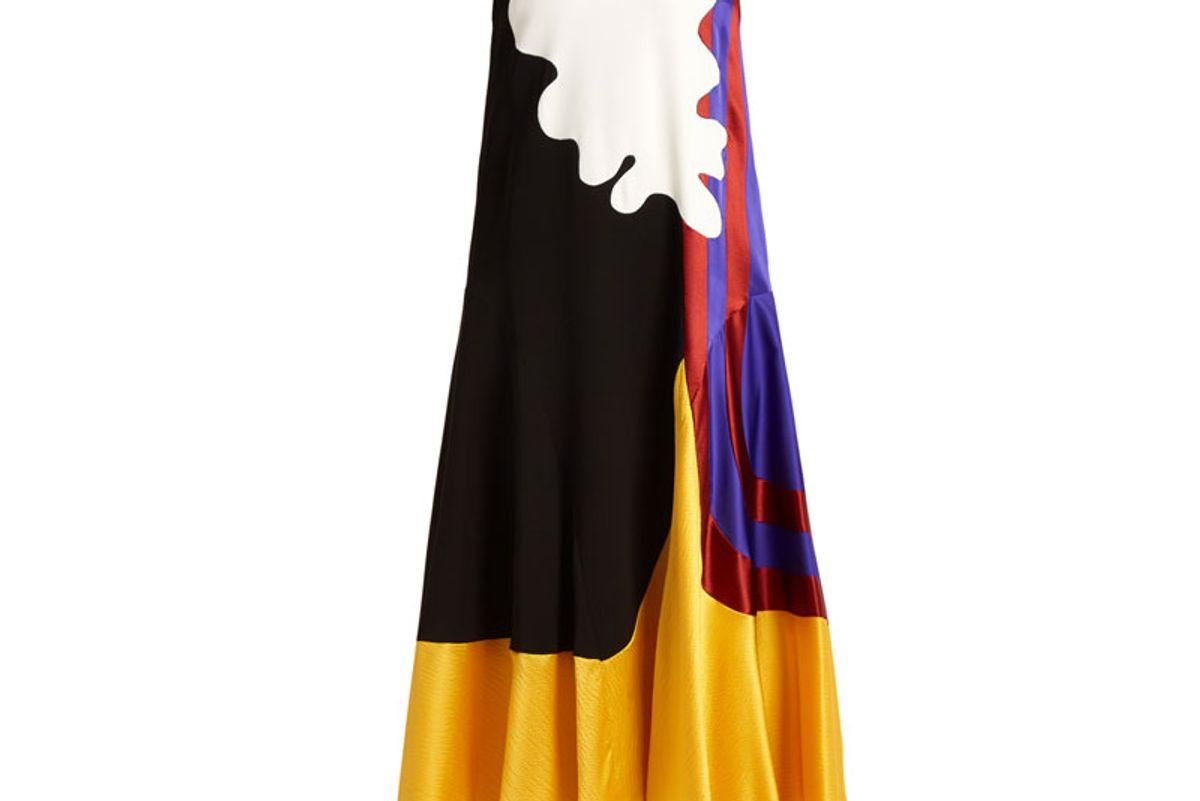 Valtteri Abstract-Panel Silk-Blend Dress