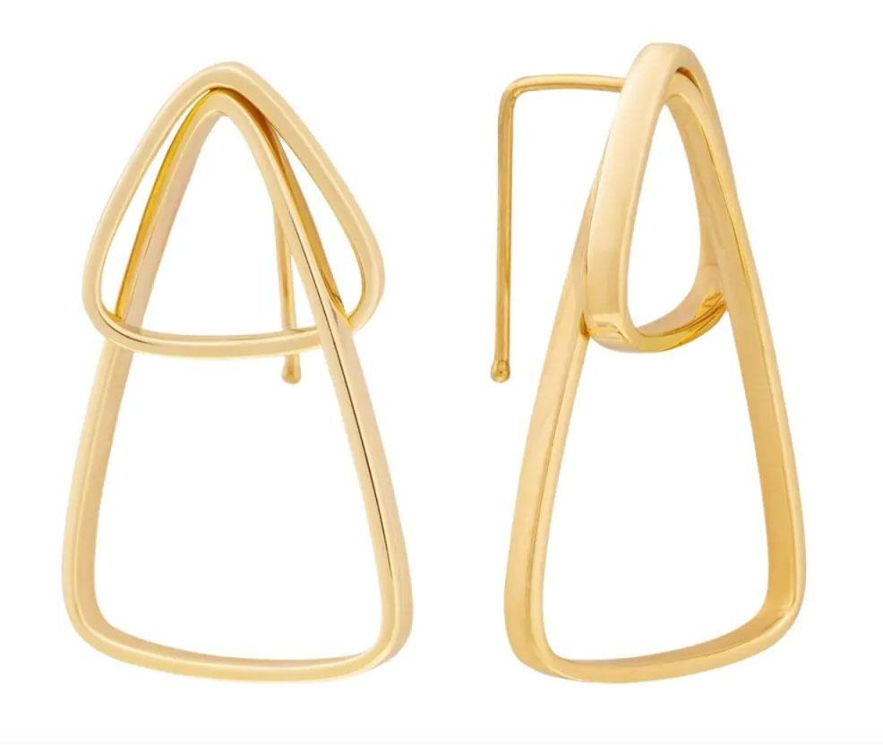 runda jewelry runda tempo 10k gold geometric hoop earrings