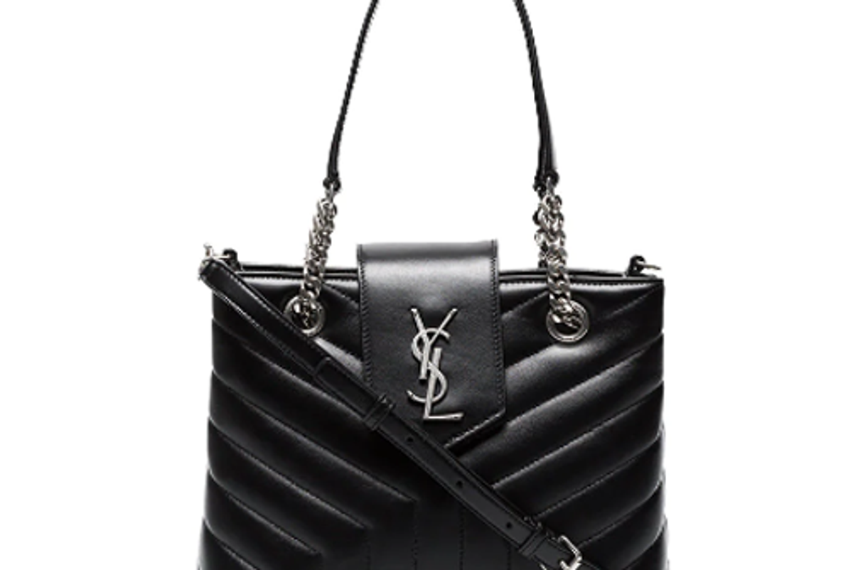 saint laurent black lou lou small quilted leather bag