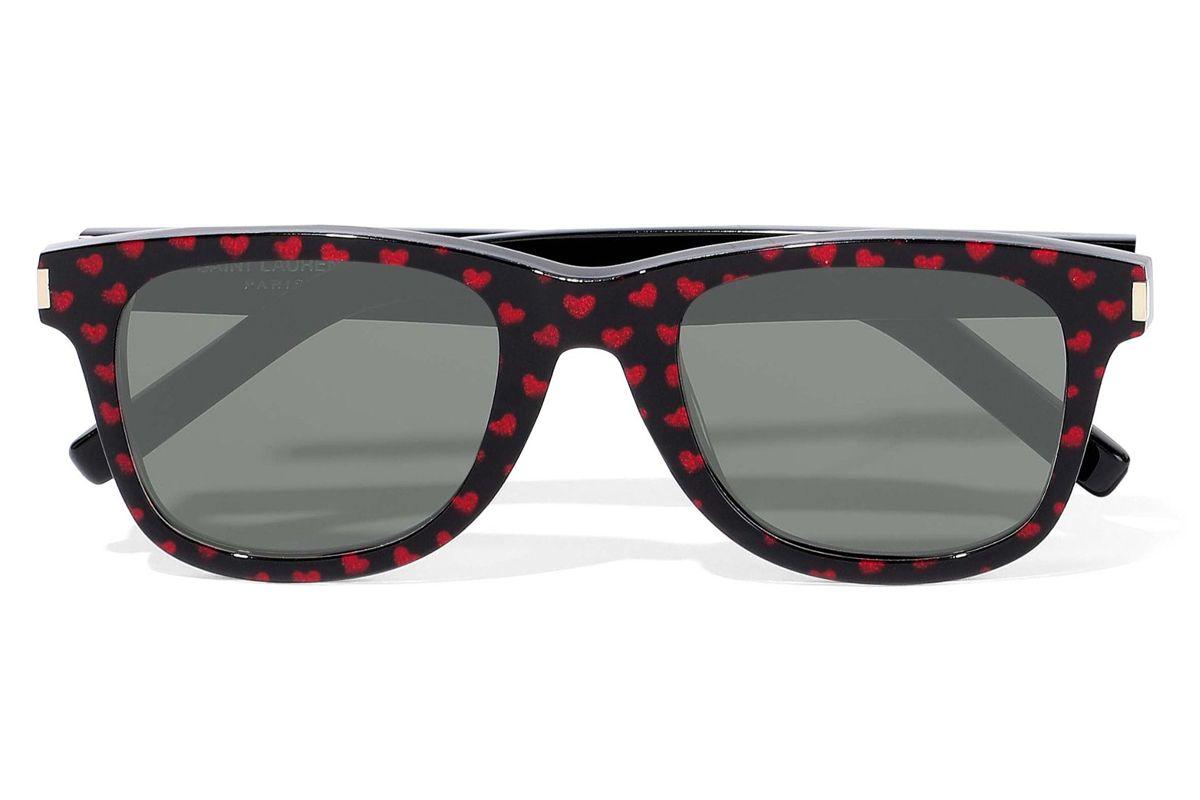 saint laurent d frame printed acetate sunglasses