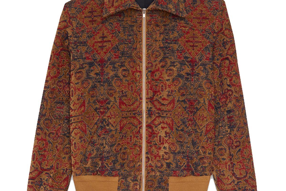 Marrakech Teddy Jacket in Saffron Red Woven