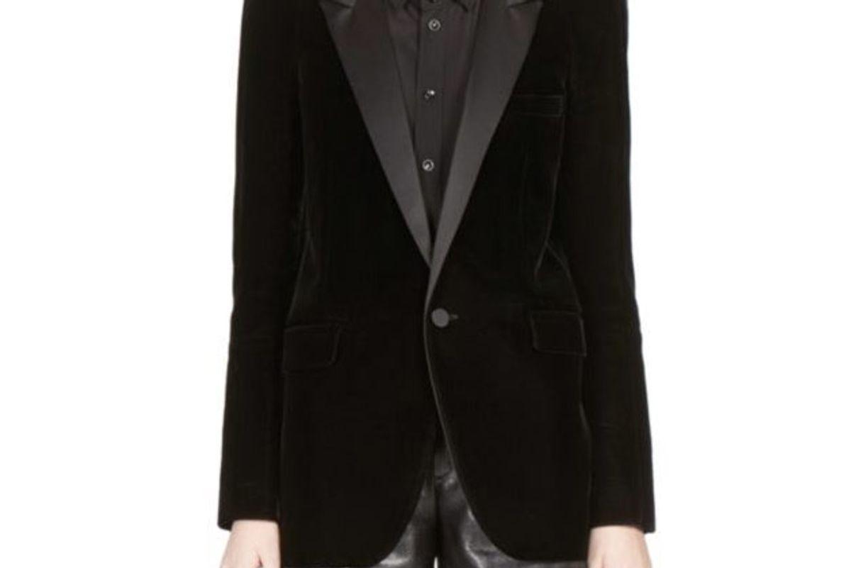 Velvet Button-Front Jacket