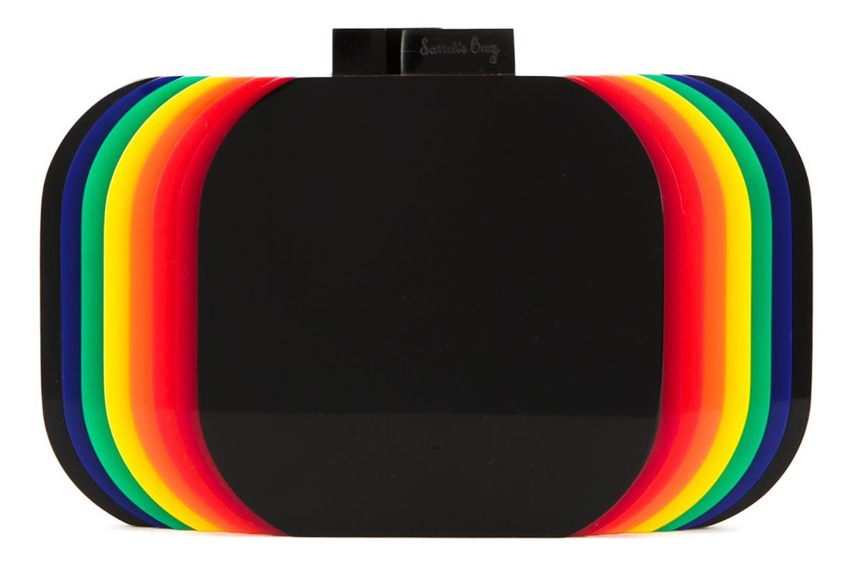 Rainbow Layered Clutch Bag
