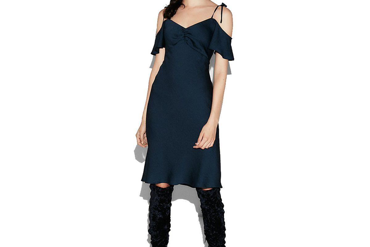Petite Satin Midi Dress
