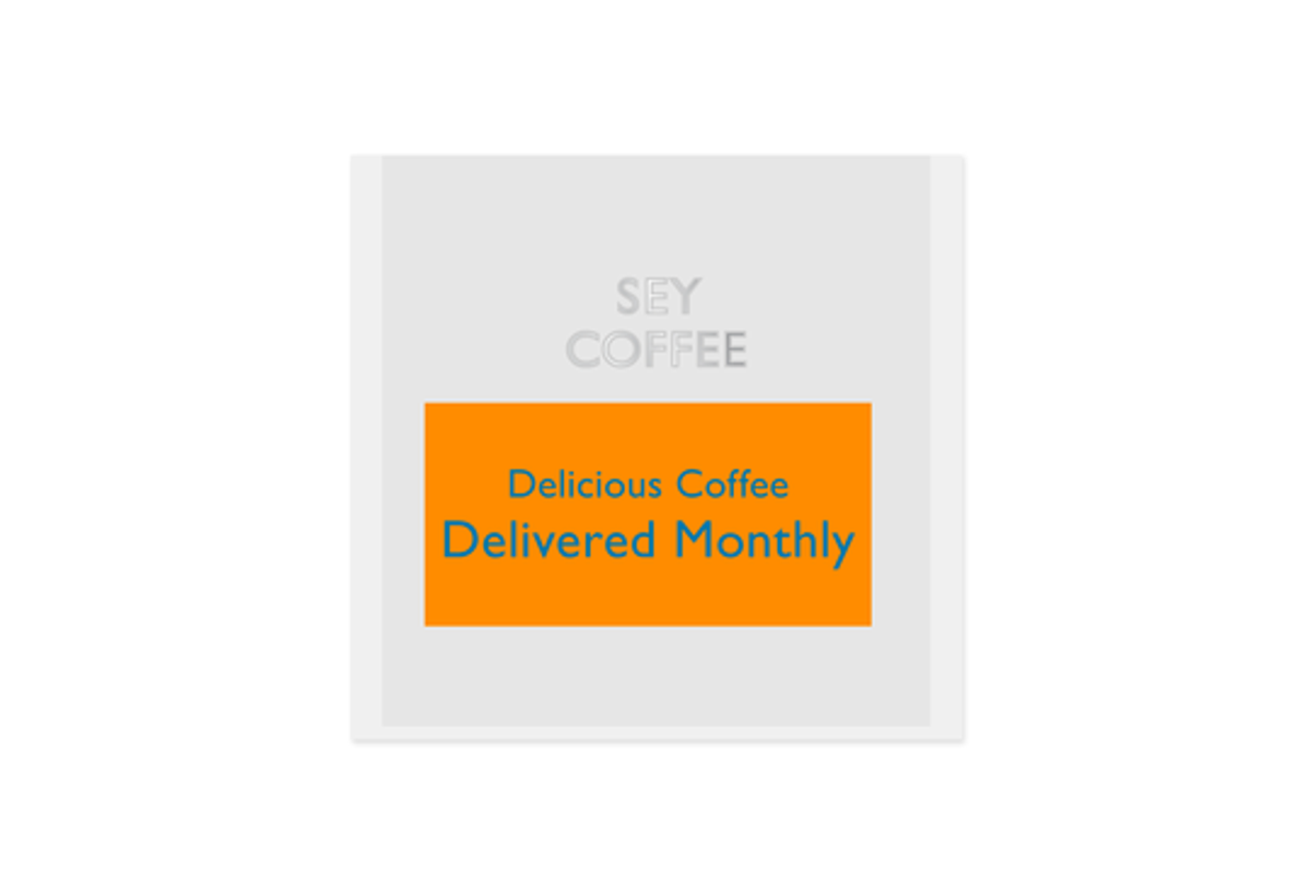 sey coffee coffee subscription