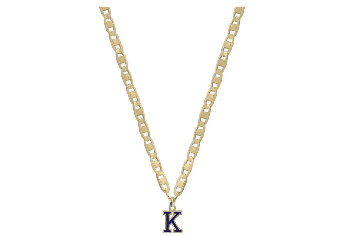 shami single varsity letter necklace
