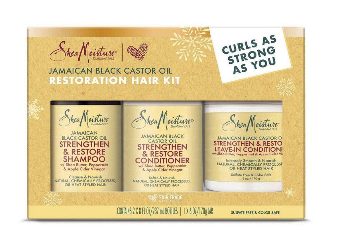 sheamoistue jamaican black castor oil restoration hair kit
