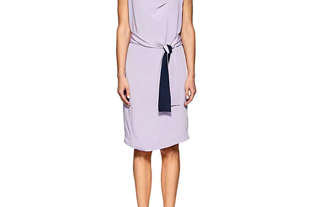 narciso rodriguez silk crepe wrap dress