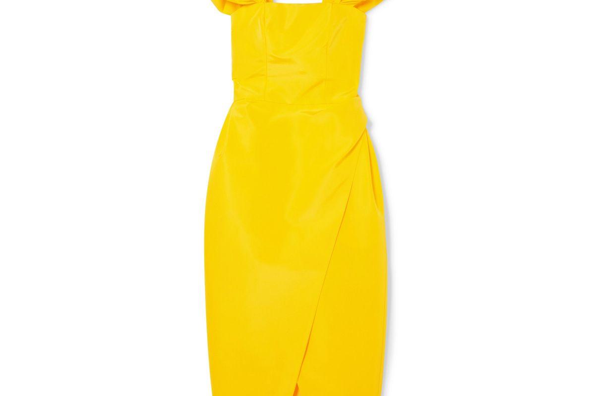 carolina herrera silk faille midi dress