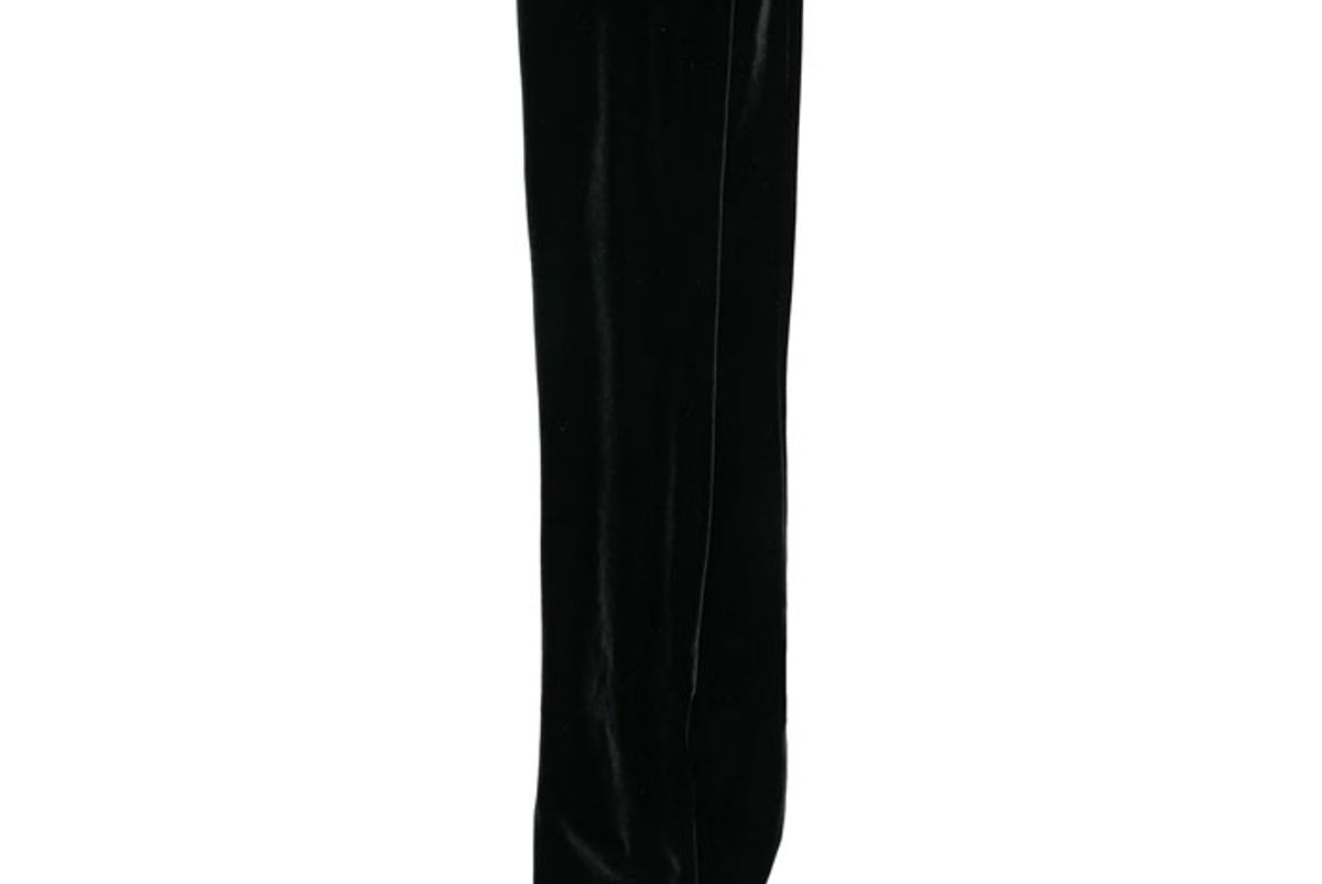 simone wild knee length velvet socks