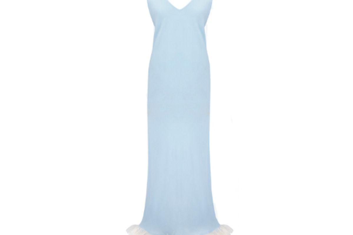 sleeper blue slip dress