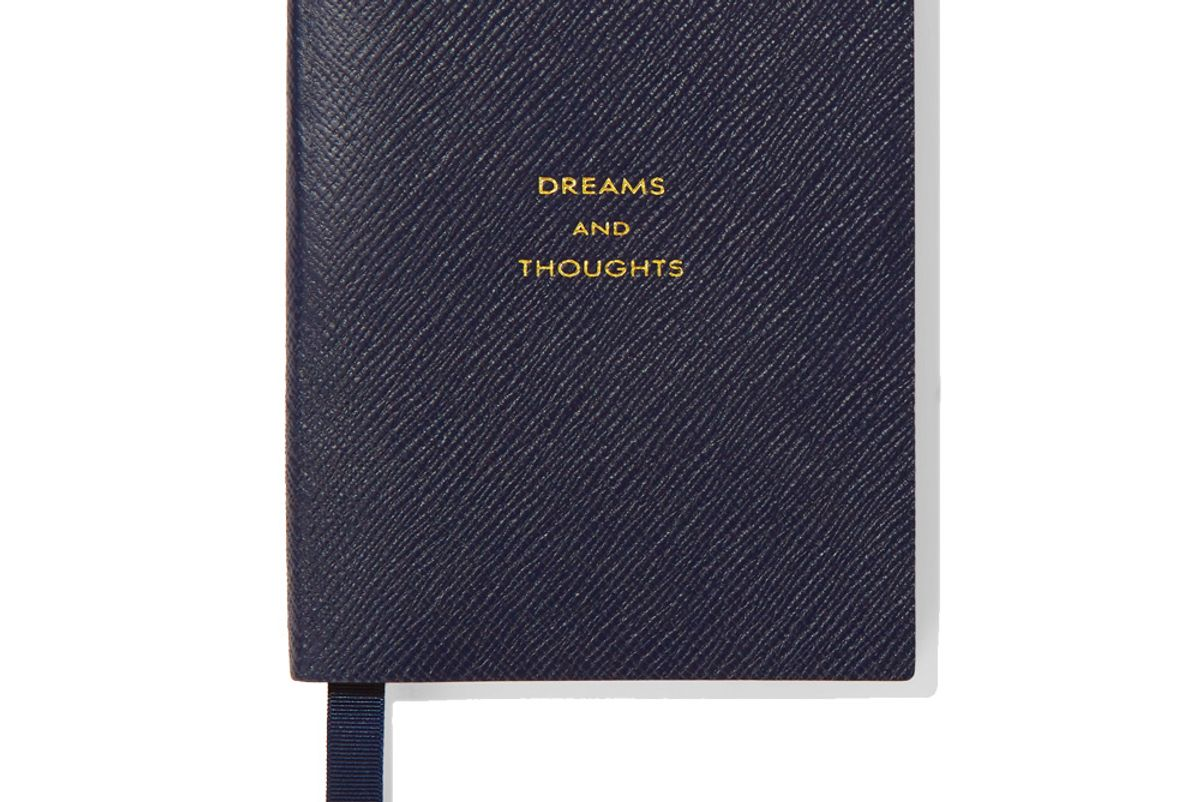 smythson panama dreams and thoughts textured leather notebook