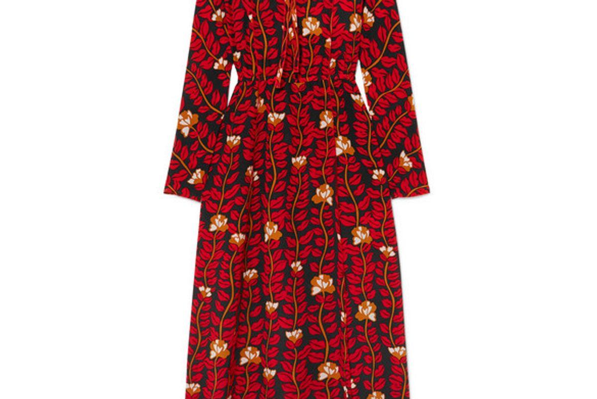 sonia rykiel printed silk crepe de chine dress