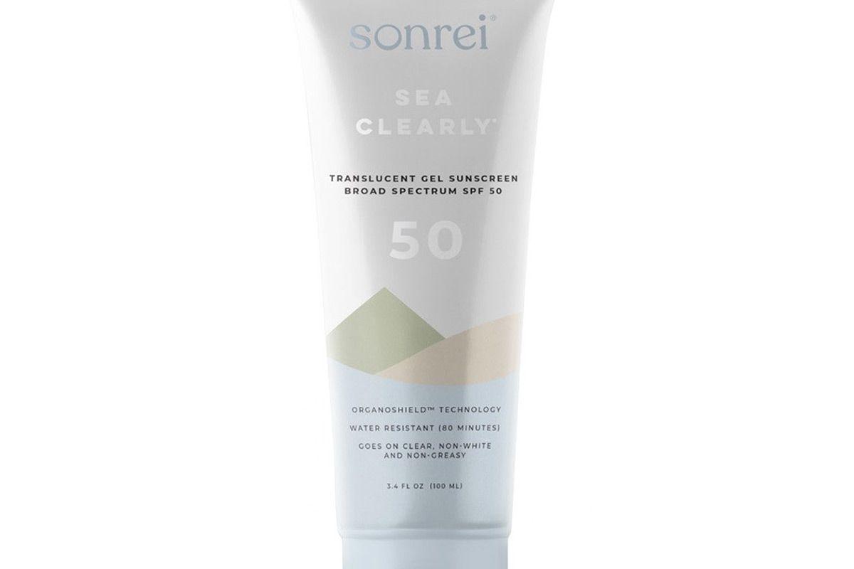 sonrei sea clearly gel sunscreen spf 50
