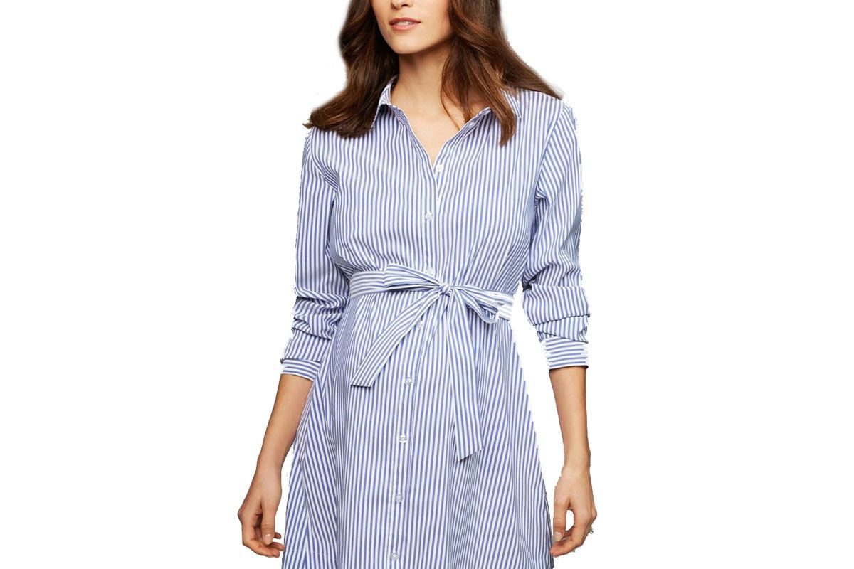 Soon Button Front Maternity Dress