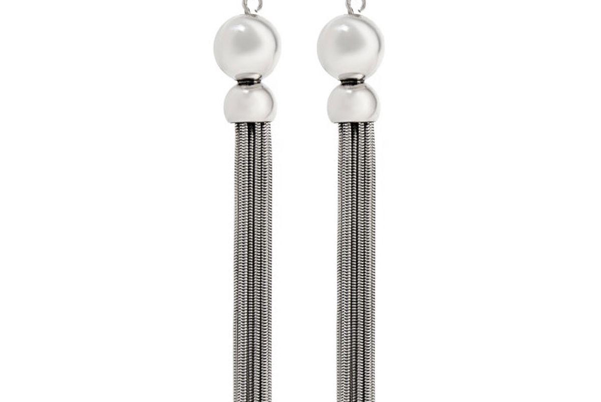 Benton Gates Tasseled Silver Earrings