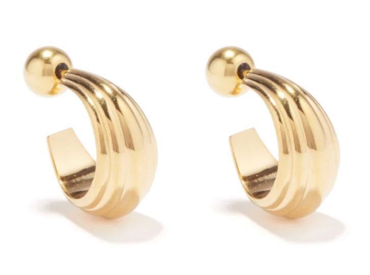 sophie buhai blondeau 18kt gold vermeil hoop earrings