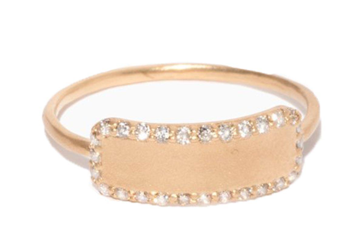 sophie ratner diamond edge tag ring