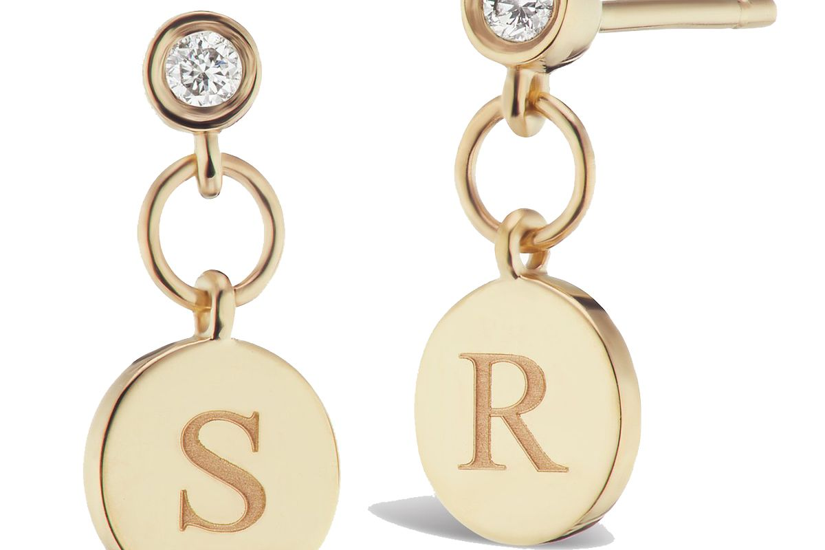 sophie ratner single diamond charm stud