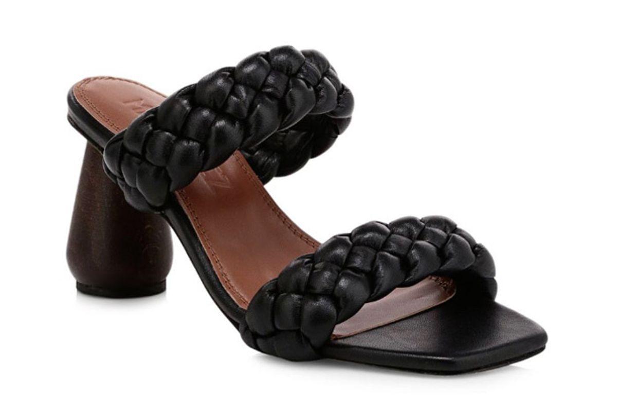 souliers martinez mitjorn woven leather mule sandals